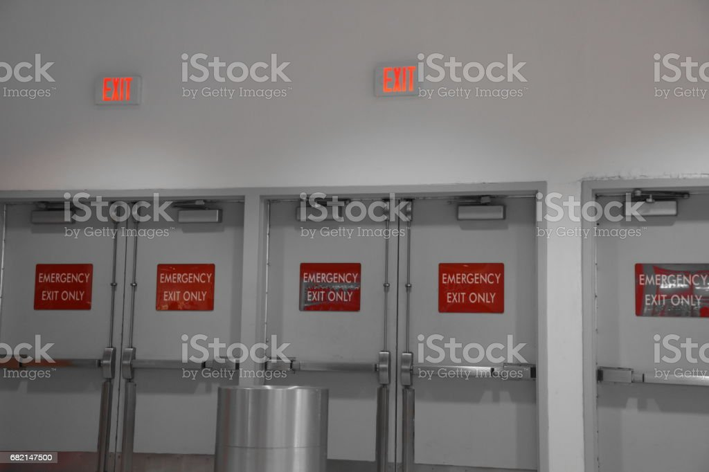 Emergency exit doors royalty-free stock photo & Emergency Exit Doors Stock Photo \u0026 More Pictures of Assistance | iStock