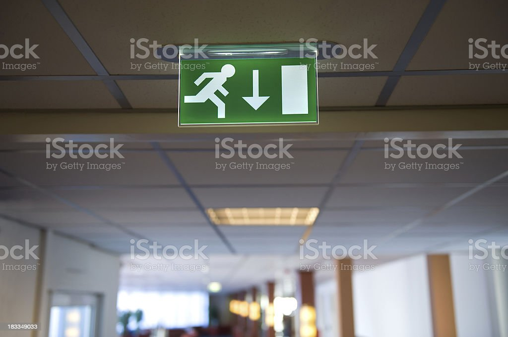 Emergency Exit Light Sign Royalty Free Stock Photo