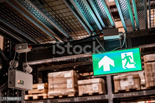 1182906669istockphoto Emergency exit sign or fire exit sign 1176959101