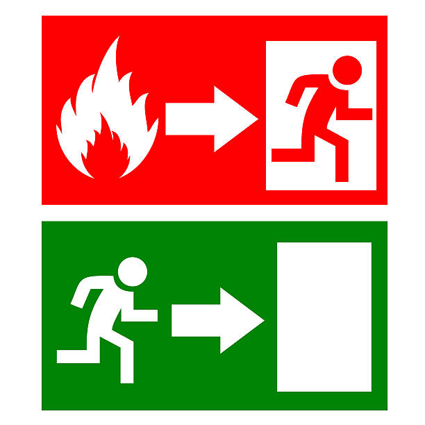 royalty free fire exit sign pictures images and stock photos istock