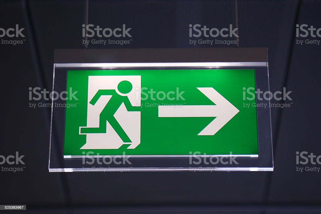 Emergency exit - Stock Image stock photo