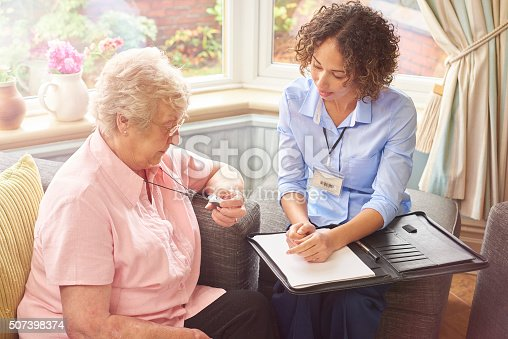 istock emergency fall button for senior woman 507398374