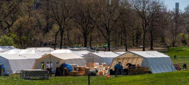 Das Emergency Field Hospital wurde im Manhattan Central Park als Reaktion auf die COVID-19-Pandemie eröffnet. – Foto