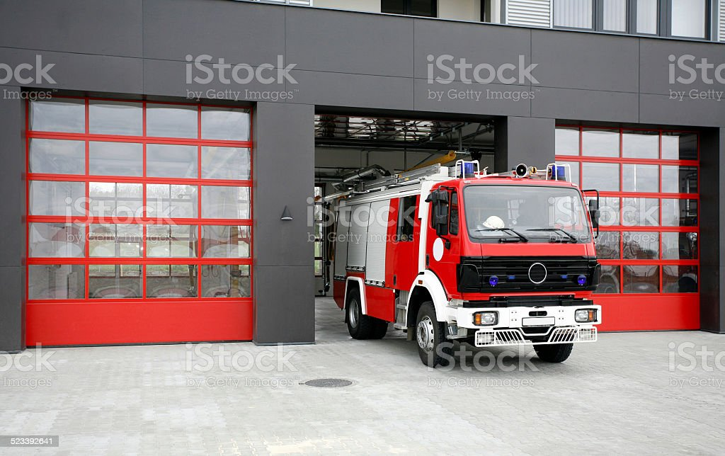 Emergency fire rescue truck bildbanksfoto