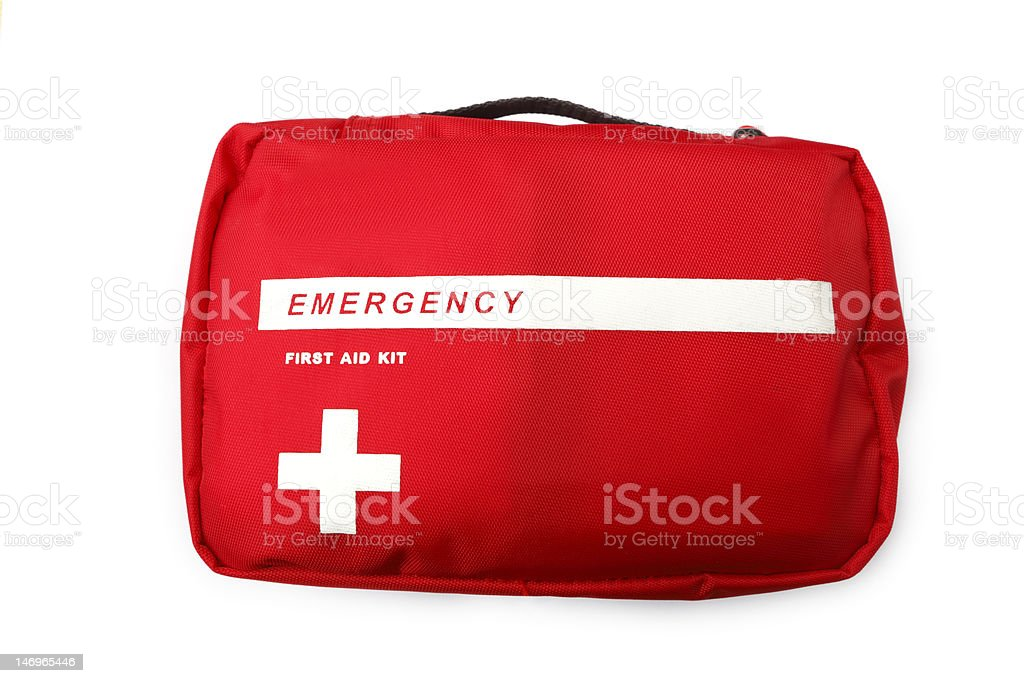 Emergency First Aid Kit stock photo
