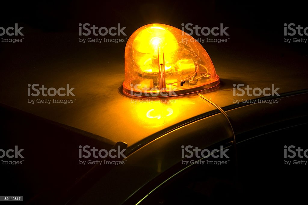 Emergency flashing lights royalty-free stock photo