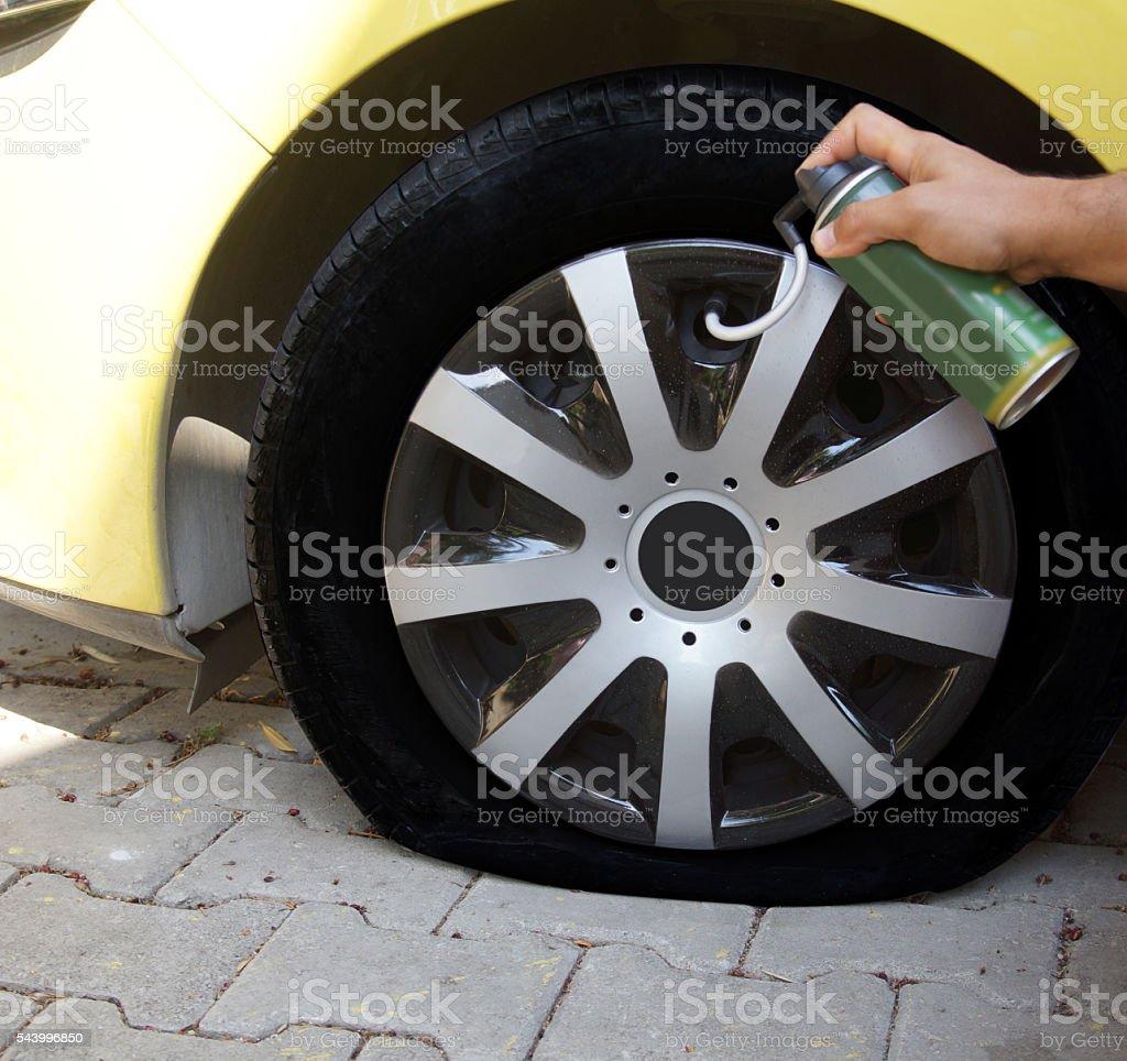 Emergency Flat Tire Repair Spray