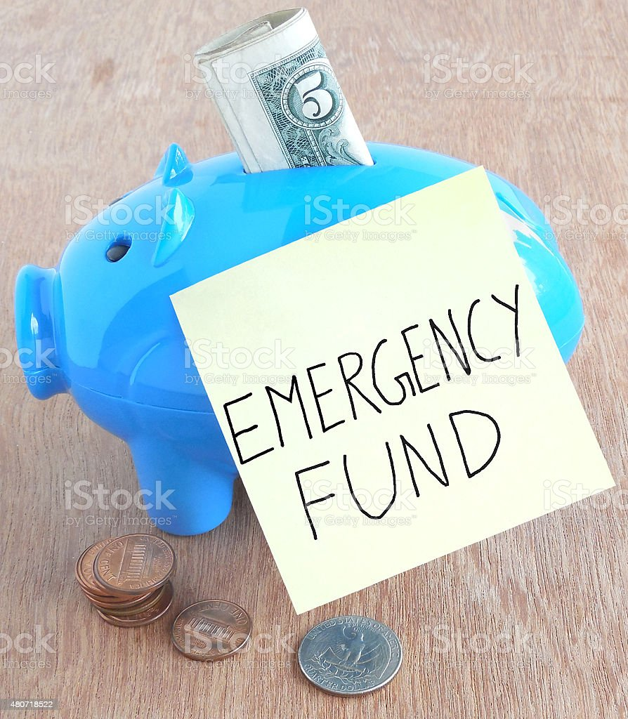 Emergency Fund stock photo