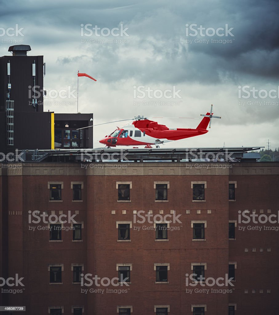 Emergency Helicopter stock photo
