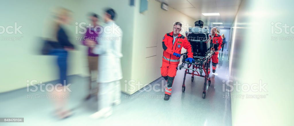Emergency in hospital stock photo