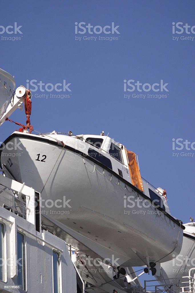 emergency life boat (portrait) stock photo