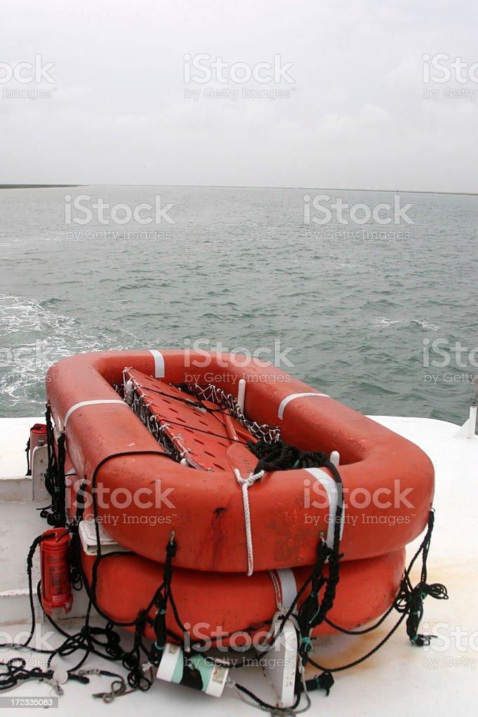 Emergency Lifeboat stock photo