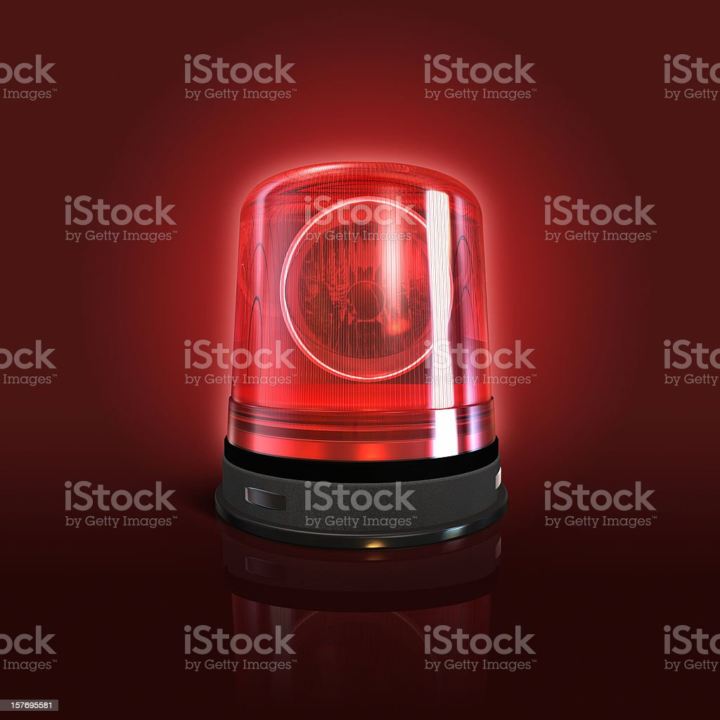 Emergency light stock photo