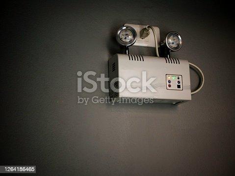 Emergency lighting hang on the wall