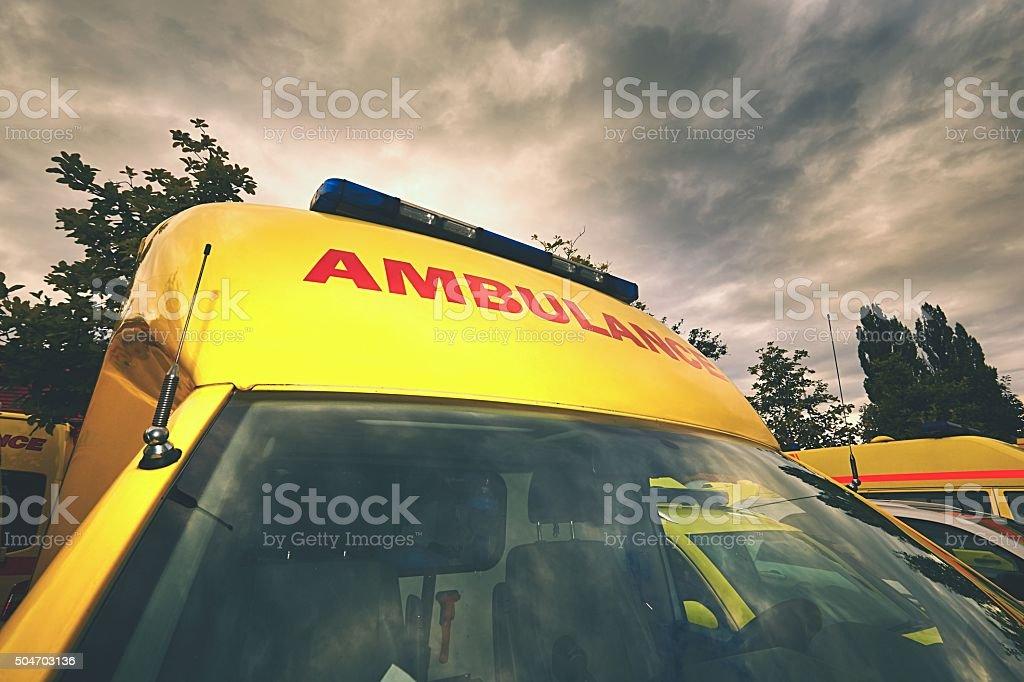 Ambulance car of the emergency medical service