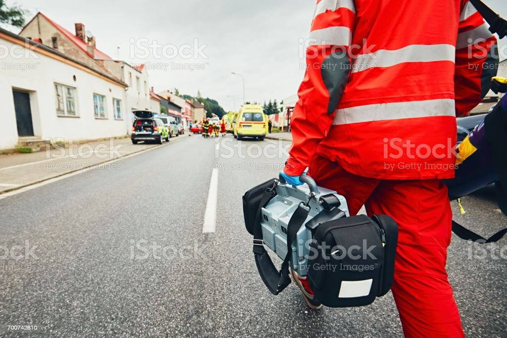 Emergency medical service stock photo
