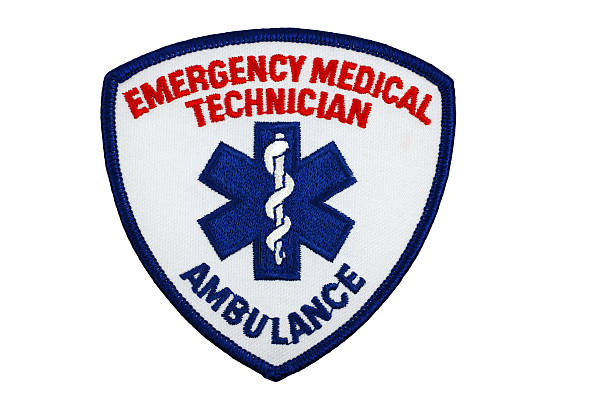 Emergency Medical Technician Patch stock photo