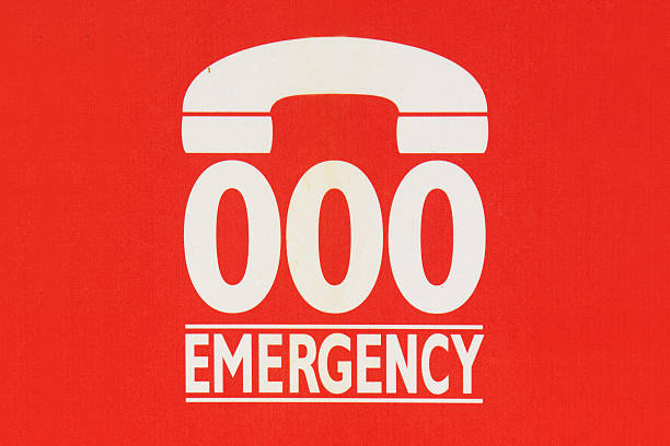 Emergency Number 000 stock photo