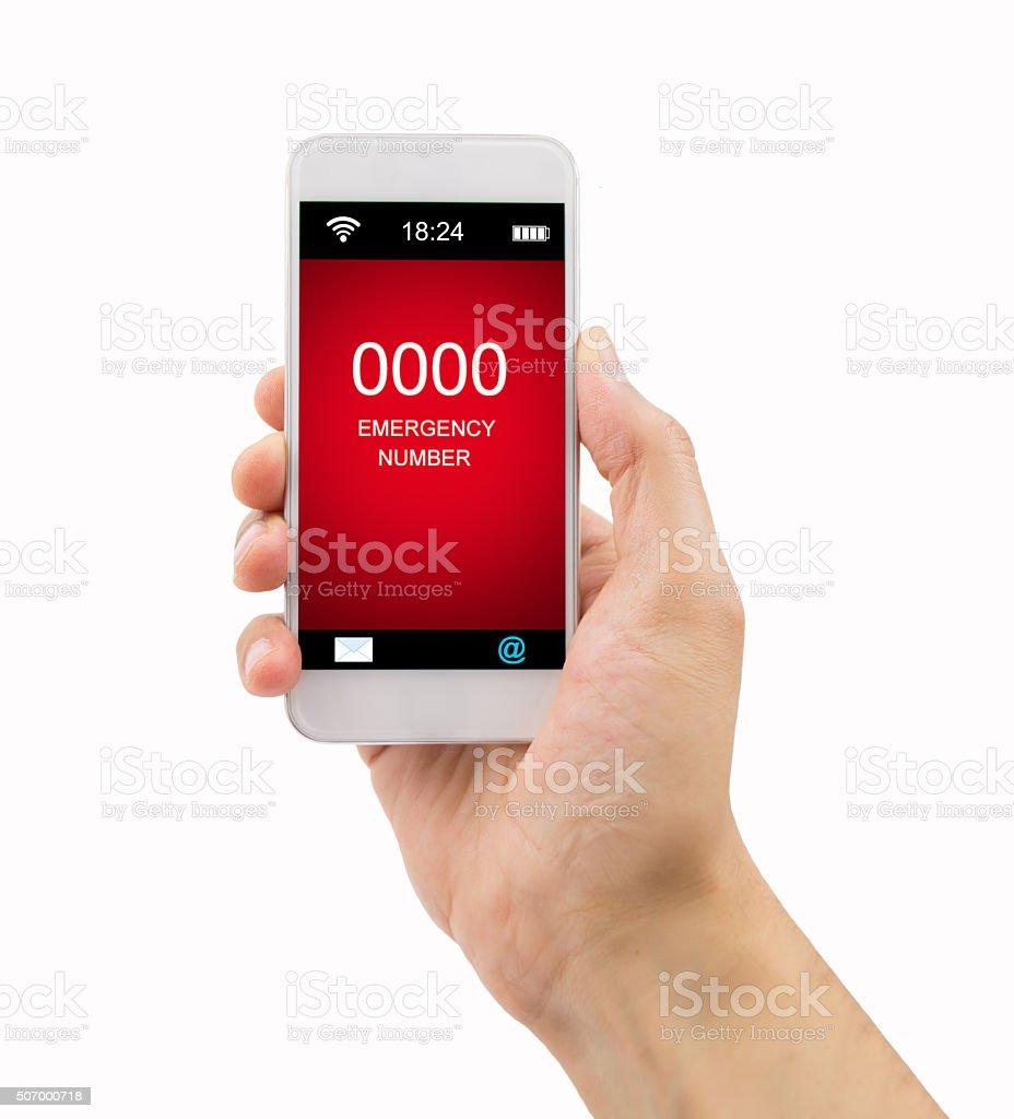 emergency number stock photo