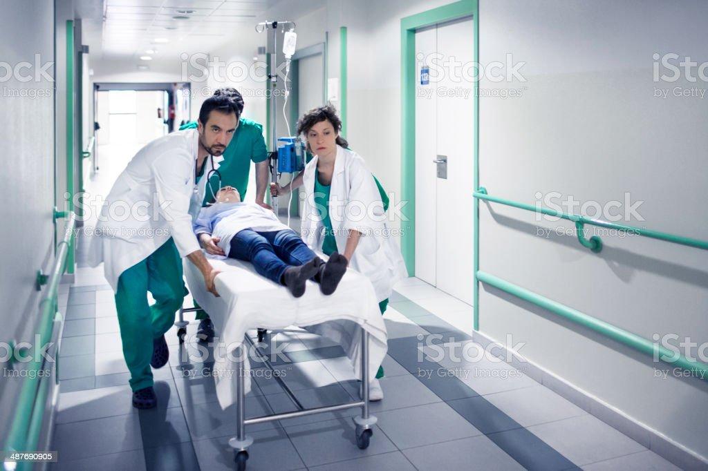 Emergency operation stock photo