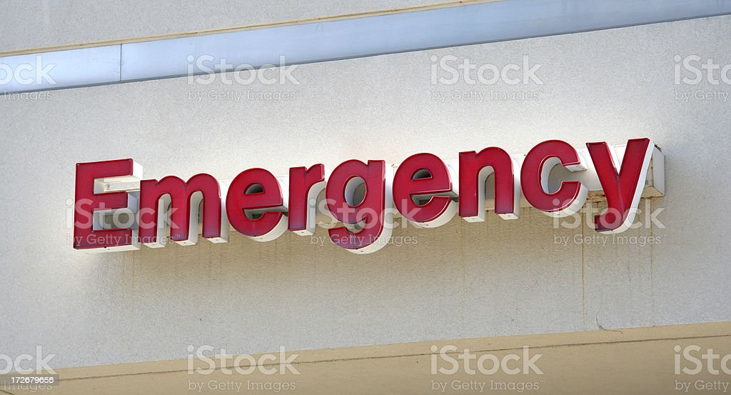 Emergency royalty-free stock photo