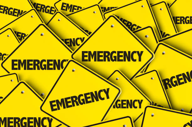 Emergency Emergency sign emergency sign stock pictures, royalty-free photos & images