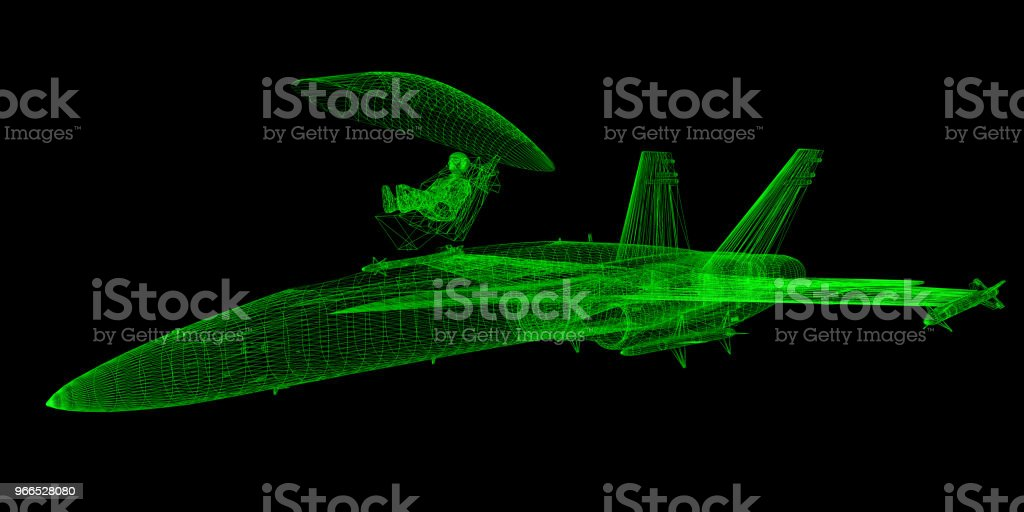 Emergency Pilot Ejection System Design stock photo