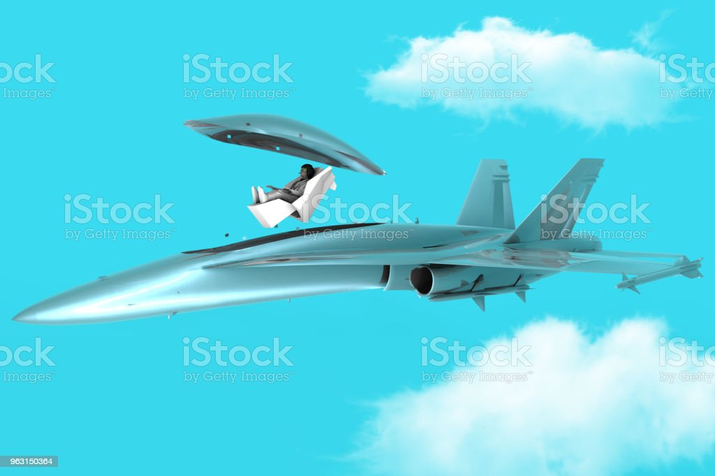 Emergency Pilot Ejection System stock photo