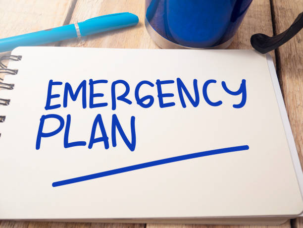 Emergency Plan, Motivational Words Quotes Concept Emergency Plan, business motivational inspirational quotes, words typography top view lettering concept accidents and disasters stock pictures, royalty-free photos & images