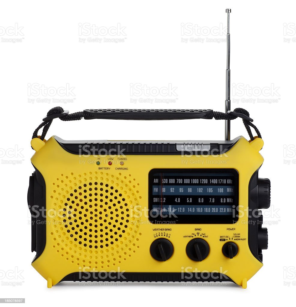 Emergency Radio Isolated on White royalty-free stock photo