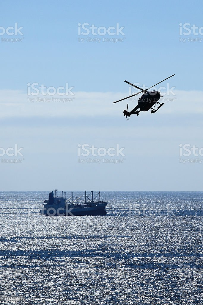 Emergency Rescue Helicopter stock photo