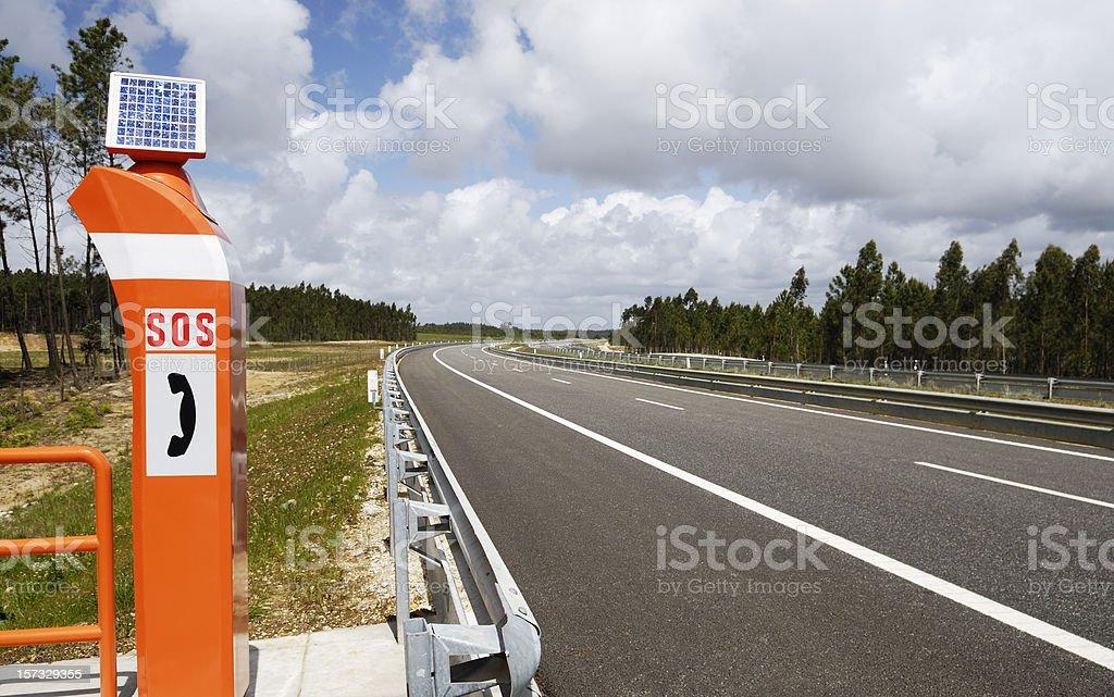 Emergency Road Telephone stock photo