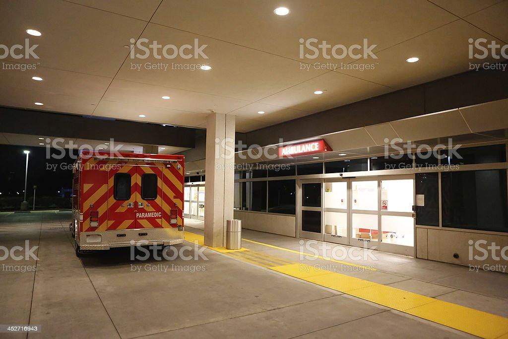 Emergency Room and Ambulance stock photo