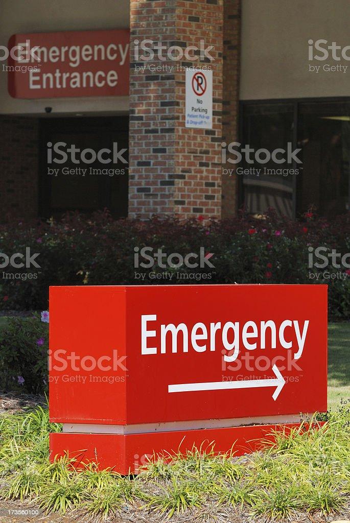 Emergency Room Entrance royalty-free stock photo