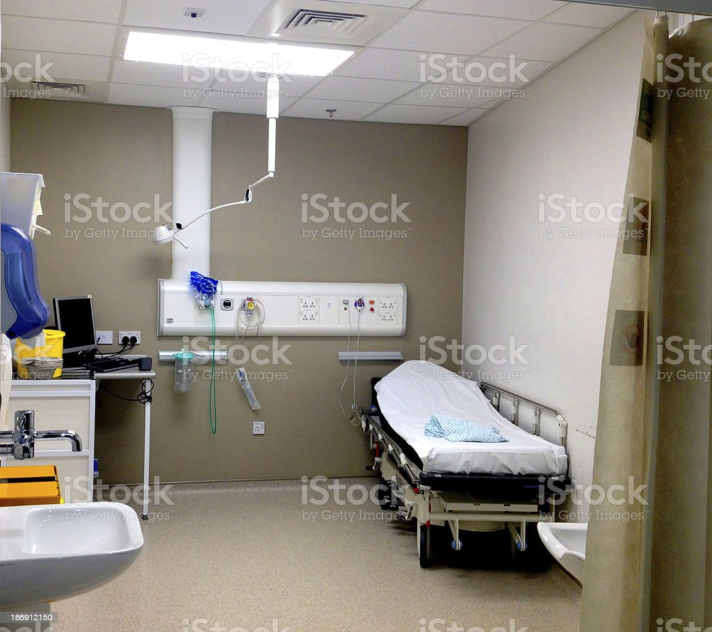 Emergency room in the hospital.