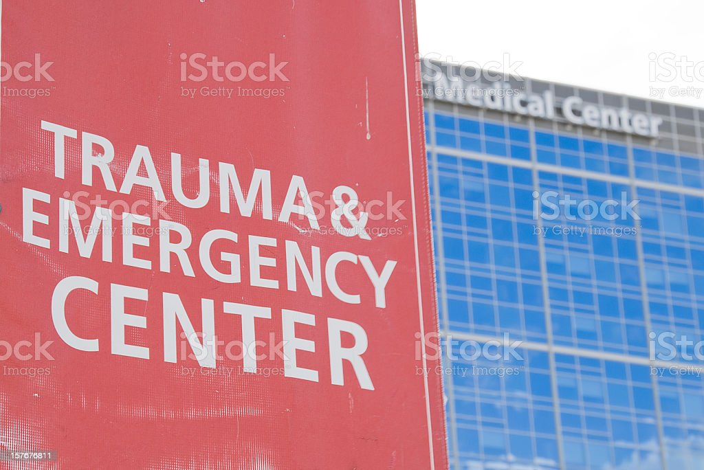 Emergency Room Sign royalty-free stock photo