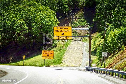 An Emergency runaway truck ramp on I-80 Pennsylvania
