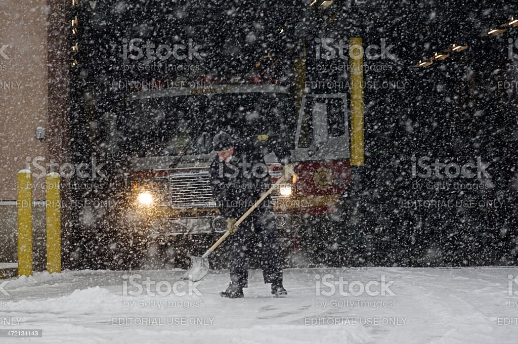 Emergency services prepare for winter weather stock photo