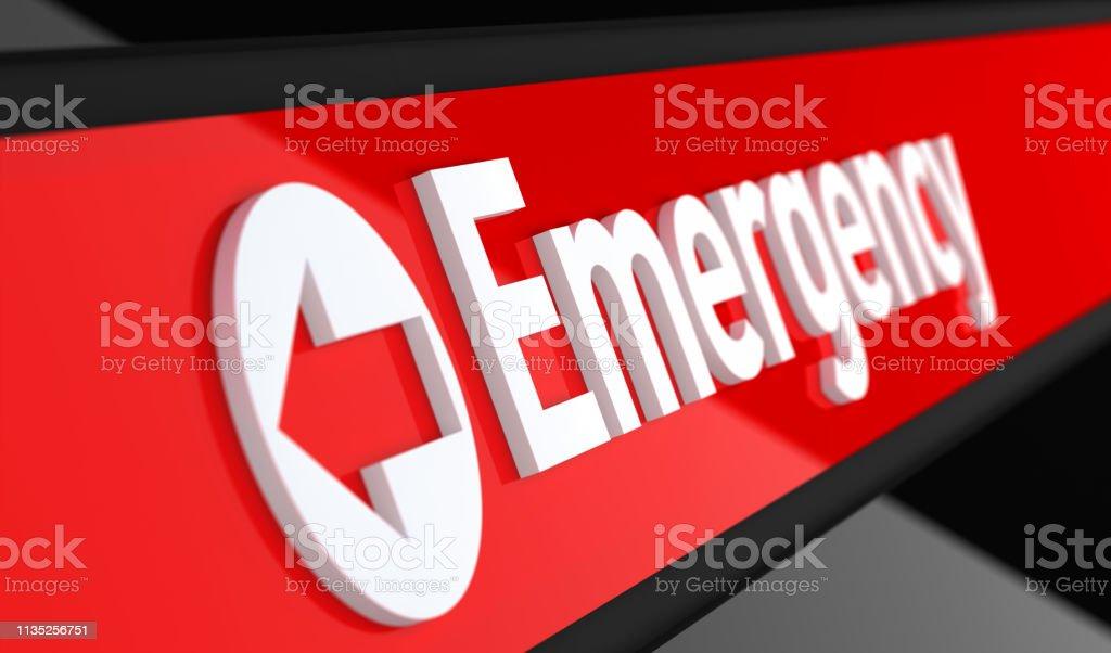 Emergency Sign. 3D Illustration