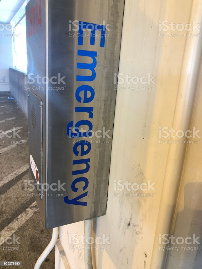 Emergency sign call box royalty-free stock photo