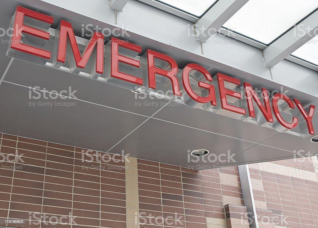 Emergency room sign.
