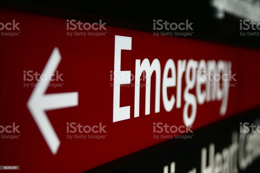 Señal de emergencia - foto de stock