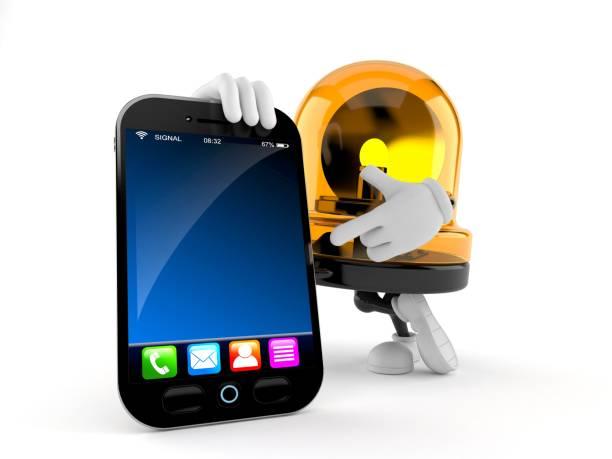 Emergency siren character with smart phone picture id1056193608?b=1&k=6&m=1056193608&s=612x612&w=0&h=ocrz 2wjw9logk0sas p etq8kjjd63lhtz9 0vkh u=
