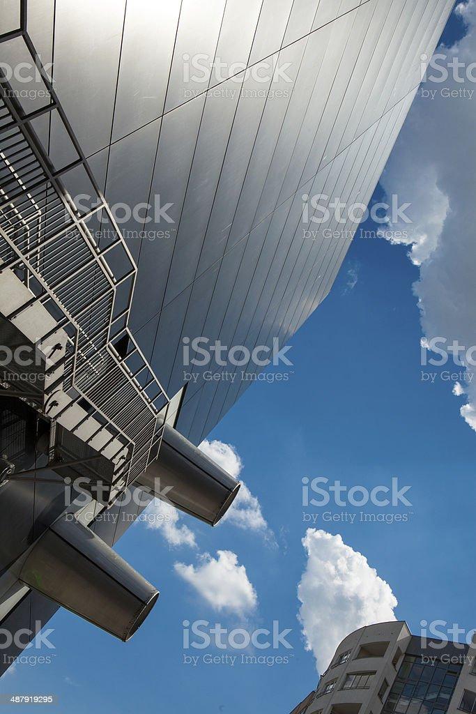 Escaleras De Moderno Edificio De Emergencia Foto De Stock Y