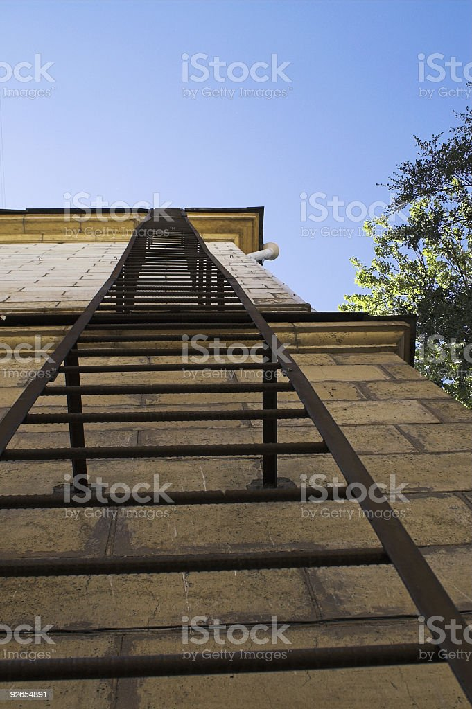 Emergency Stairs royalty-free stock photo
