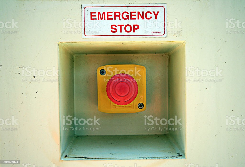Emergency Stop Button stock photo