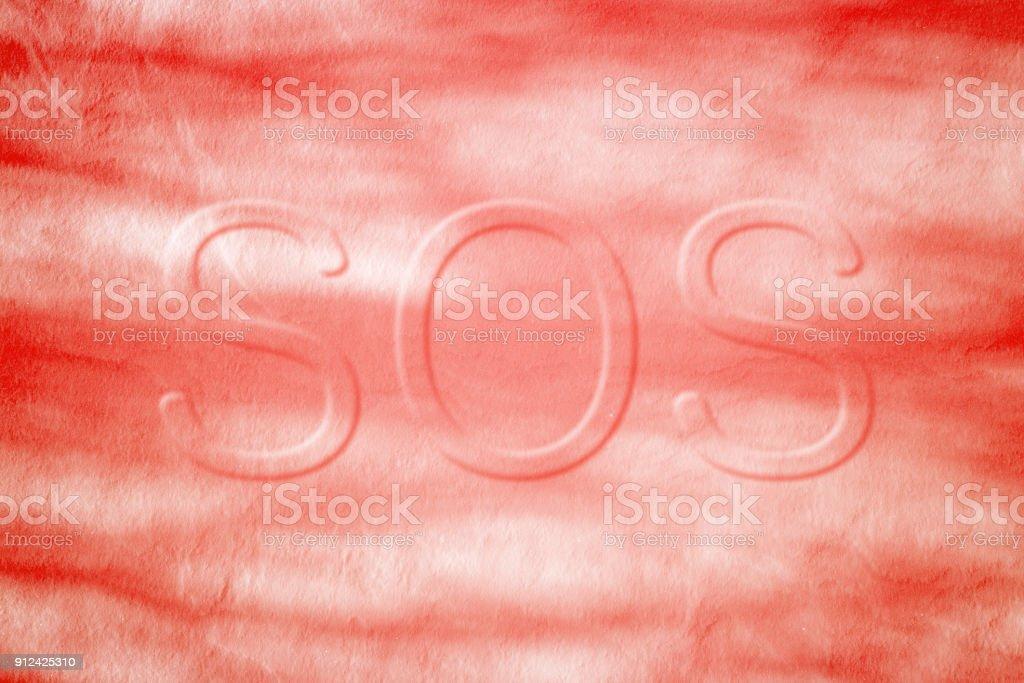 Símbolo De Emergencia En La Superficie Con Sangre Congelada