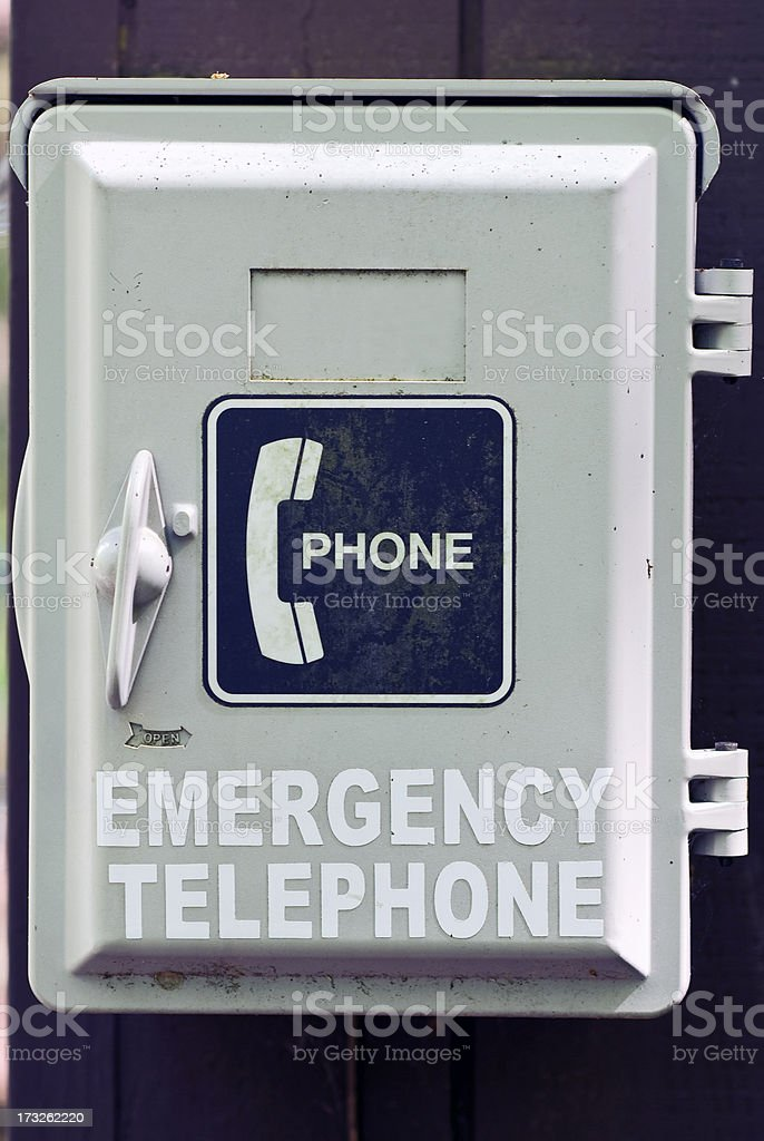 Emergency Telephone stock photo