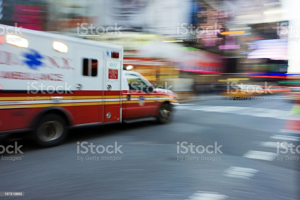 Emergency Time Square stock photo