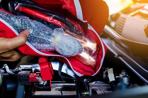istock emergency tools bag in car 1130711295